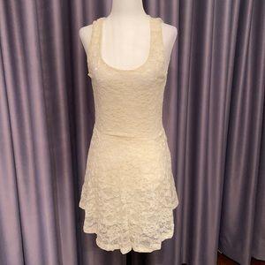 Aritzia white lace dress